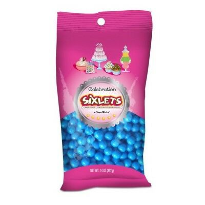 Sweetworks Blue Sixlets Candy. Free Shipping