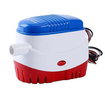 12V Boat Automatic Submersible Bilge Water Pump 750GPH Auto W/ Float Switch New