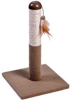 Cat Kitten Scratching Post Small Sisal Carpet Scratch Pole With Teaser Toy H49cm