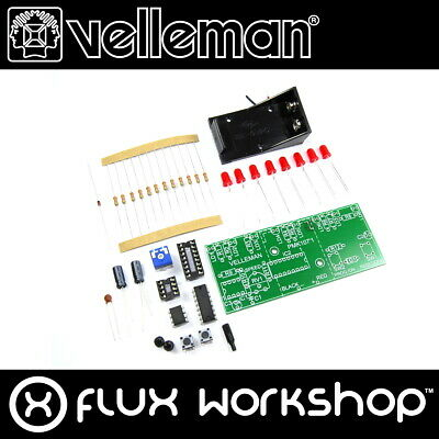 Velleman LED Running Light Mini Kit MK107 Unsoldered DIY Red Flux Workshop