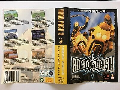 Original Sega Mega Drive Box / Case Cover - Road Rash 3