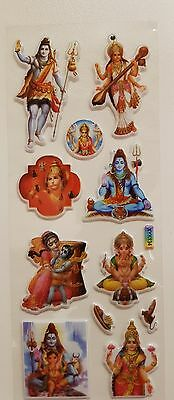 Various Hindu Gods And Goddesses Stickers (Approx size 3cm each)