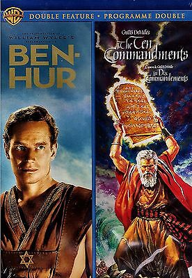 NEW 4DVD SET - Remastered - BEN HUR + THE TEN COMMANDMENTS - CHARLTON HESTON -