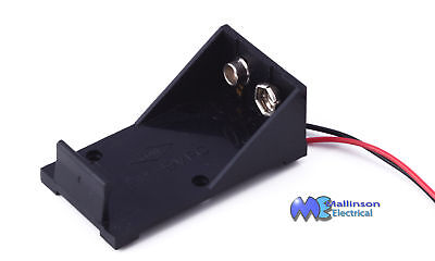 Pp3 9V Battery Holder Clip Connector Ideal For Guitar Effects Pedal
