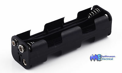 8AA Battery Holder with PP3 studs Square Open Format 8 AA Cell size