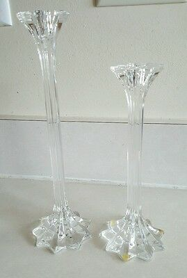 """Riedel Crystal 8"""" & 10"""" Starlet Candle Holders"""