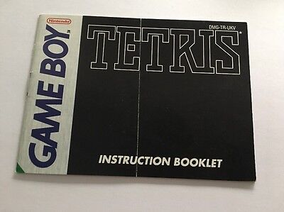Tetris  Manual Instruction Booklet  Nintendo Gameboy Original