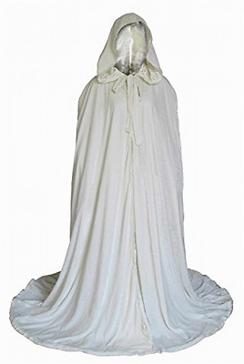NEW Fenghuavip Stylish Floor Length Winter Bridal Wedding Cloak White Cape M