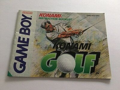 Konami Golf  Manual Instruction Booklet  Nintendo Gameboy Original