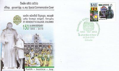 Special Commemorative Cover :  150th Anniversay - St. Benedicts College, Colombo