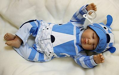 "Silicone Reborn Real Baby Doll 20"" Lifelike Newborn Soft Vinyl Full Handmade New"