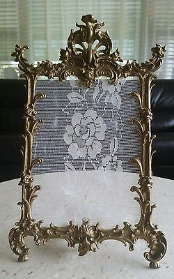 Antique vintage cast iron table frame large gold rococo for Rococo style frame