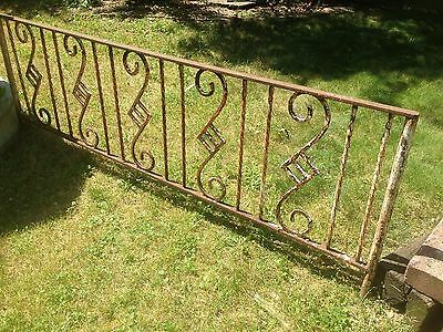 Vintage Art Deco Cast Iron Fence section Yard Art