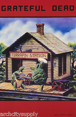 2 POSTERS : MUSIC: GRATEFUL DEAD - TERRAPIN STATION -  FREE SHIP  #3555  RC16 i