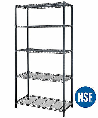 "5-Tire 72""X36""X18"" Steel Wire Shelving Storage Rack 1750 Lbs Max Shelf Capacity"