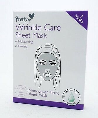 Pretty Wrinkle Care Sheet Mask Moisturising & Firming - Enriched With Vitamin-E