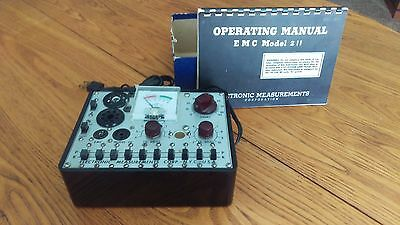 Vintage Tube Tester EMC Model 211 with Box and Manual