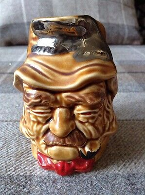 Vintage 'Old Gaffer' 94 Lord Nelson Brown Red Character Toby Jug Immaculate!