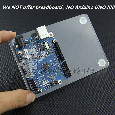 Universal Arduino UNO Experimental Platform Transparent Clear Acrylic Case Board