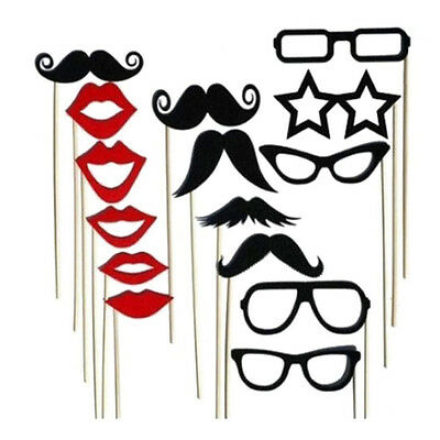 15pcs Funny Photo Booth Props DIY Mustache Lip On A Stick Wedding Birthday Party