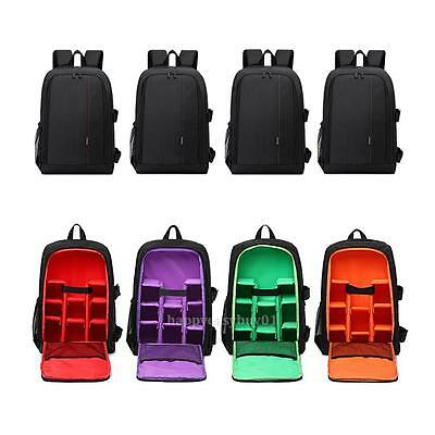 Large DSLR Camera Backpack Laptop Travel Bag for Canon Nikon w/Waterproof Cover