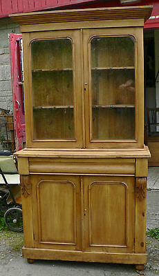 Antique Pine Dresser / Bookcase. Victorian.