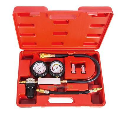 Cylinder Leak Leakage Tester Leak Down Detector Engine Compression Gauges + Case