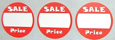 """1"""" 1 Inch Round Self Adhesive Sale Price Labels 500 Count/pack. Yard Retail Sell"""