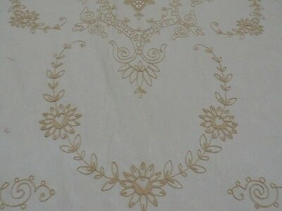 Tambour Lace Wedding Heirloom Coverlet Net Double Bedspread Antique