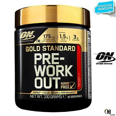 On Optimum Nutrition  Gold Standard Pre-Workout 330 gr. Pre Allenamento