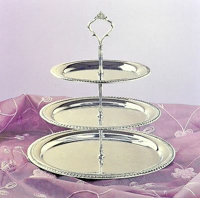 3 Tier Chrome Plated Serving Tray