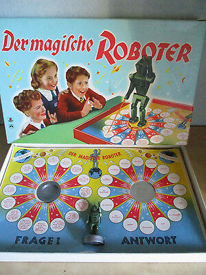 DER MAGISCHE ROBOTER  50er 60er Vintage KULT SPIEL -The magic robot Game