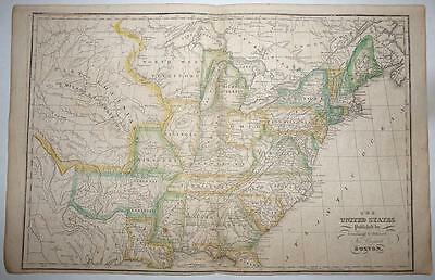 Map - Circa 1821 - The United States from Worcester's Modern Atlas