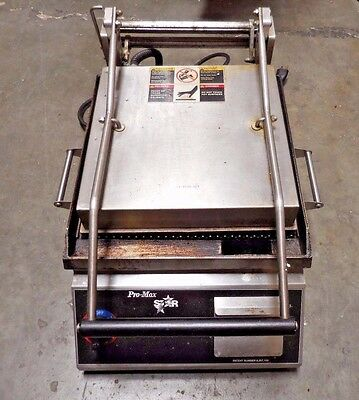 Star Pro-Max CG14 Commercial Two-Sided Grooved Sandwich and Panini Grill