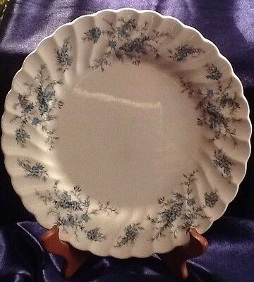 """Vintage Fine Staffordshire Ware Forget Me Not 10"""" Dinner Plates Made In England"""