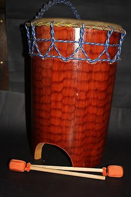 Mexican Huehuetl Drum Native Latin American Aztec Musical Percussion Instrument