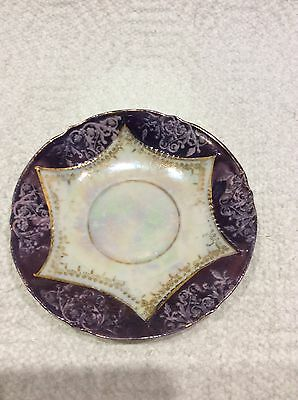 Vintage Ashtray (Made In Germany) Purple W/ Gold Lining