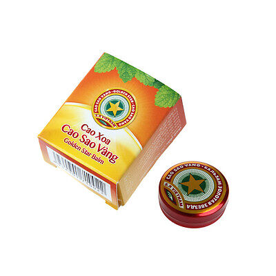 1pc 4g Golden Star Balm Ointment for Headache Dizziness Insect Stings Heat