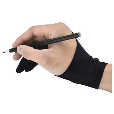 Useful Unisex Acrylic Two Fingers Gloves Drawing Painting Anti-fouling Gloves