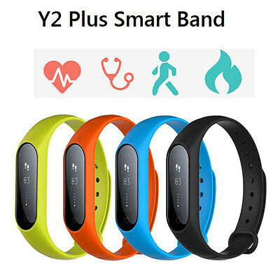 Y2 Plus Smart Wristband Watch Heart Rate Blood Pressure Monitor Fitness Tracker