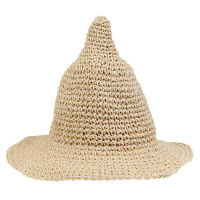 Candy Kid Children Steeple Wide Brim Straw Hat Visor Boy Girl Baby Sun Beach Cap