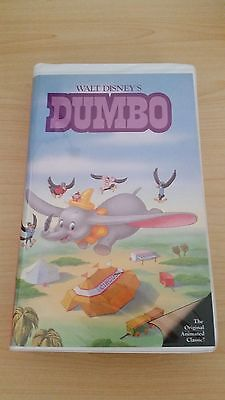 RARE Dumbo Walt Disney Black Diamond Classic VHS
