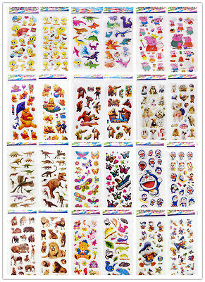 Animal world Stickers !3D Puffy Favors&Party Kids' Crafts favor stickers lot