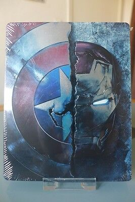 Blu-ray steelbook Marvel Captain America Civil War 2D/3D identique Fnac Neuf VF