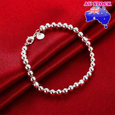 Wholesale Classic Women's 925 Sterling Silver Layered Solid Ball Chain Bracelet
