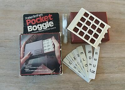 Vintage 1980 Parker Bros pocket Boggle portable hidden word game original box