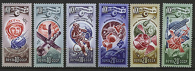 RUSIA/URSS-RUSSIA/USSR 1977 MNH SC.4589/4594 Space Research