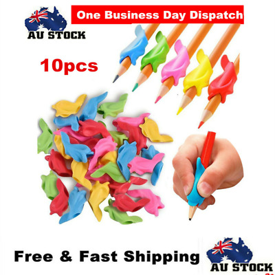 10 x Pencil Grips Pencil Holder Writing Aid Grip Hold Pen Posture Correction
