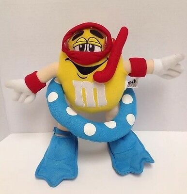 m&m plush characters yellow rare Summer Swim Snorkel Flippers Float Ring L6