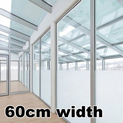 60CM Sand Blast Self Adhesive Privacy Frosting Removable Window Glass Film